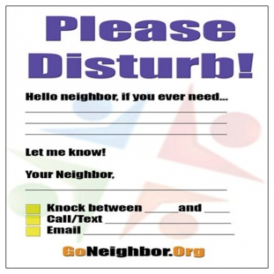 STICKY NOTE PAD - PLEASE DISTURB